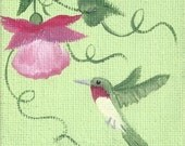 Miniature Painting Hummingbird