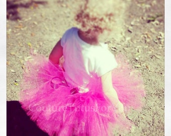 Hot Pink Tutu Skirt, pink tutu, pink tutu skirt, pink tulle skirt, pink tutu adult, adult pink tutu, teen tutu, pink and black tutu