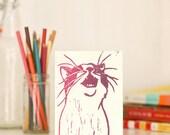 Nigel (Purple Ombre) Handmade Linocut Card