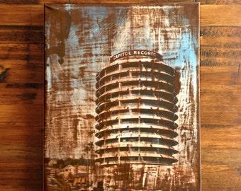 Capitol Records Building Art