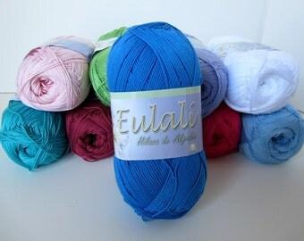 Omega Eulali Cotton Yarn - C-65 Blue (Azul)
