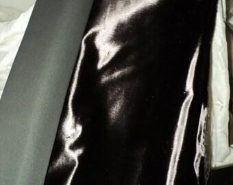 1 yd. PANNE Dark Chocolate Antique Silk Velvet Victorian French Milinery Yardage Wide