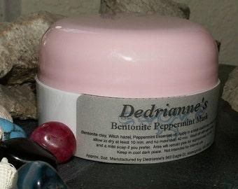 Peppermint Bentonite Mask,  Mosquito Bites, Acne, Rash, Back Acne, Chicken Pox, Shingles