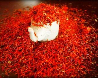 Loose Safflower Threads Petals / False Saffron 4 Oz (100 Grams) / Herbal Tea Health Yoga Body Cleanser Detox