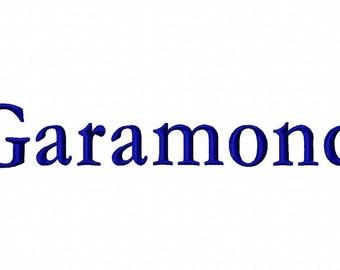 Garamond Machine Embroidery Fonts 1235