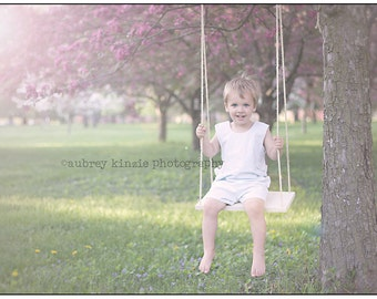 Wooden Swing with rope Photography Prop Children