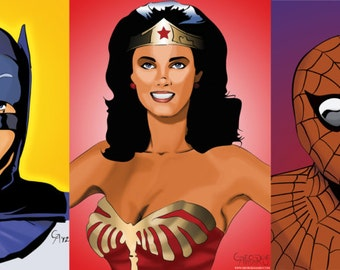 Small Screen Heroes - 5pc 11x17 Print Collection