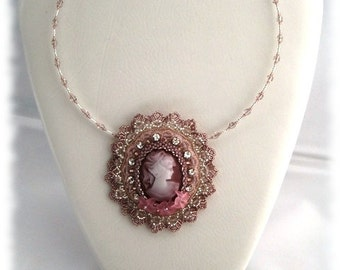Gem 'Sissi' necklace pendant Bridal jewelry costume jewelry nostalgia