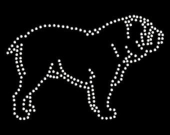 Bulldog rhinestone design transfer