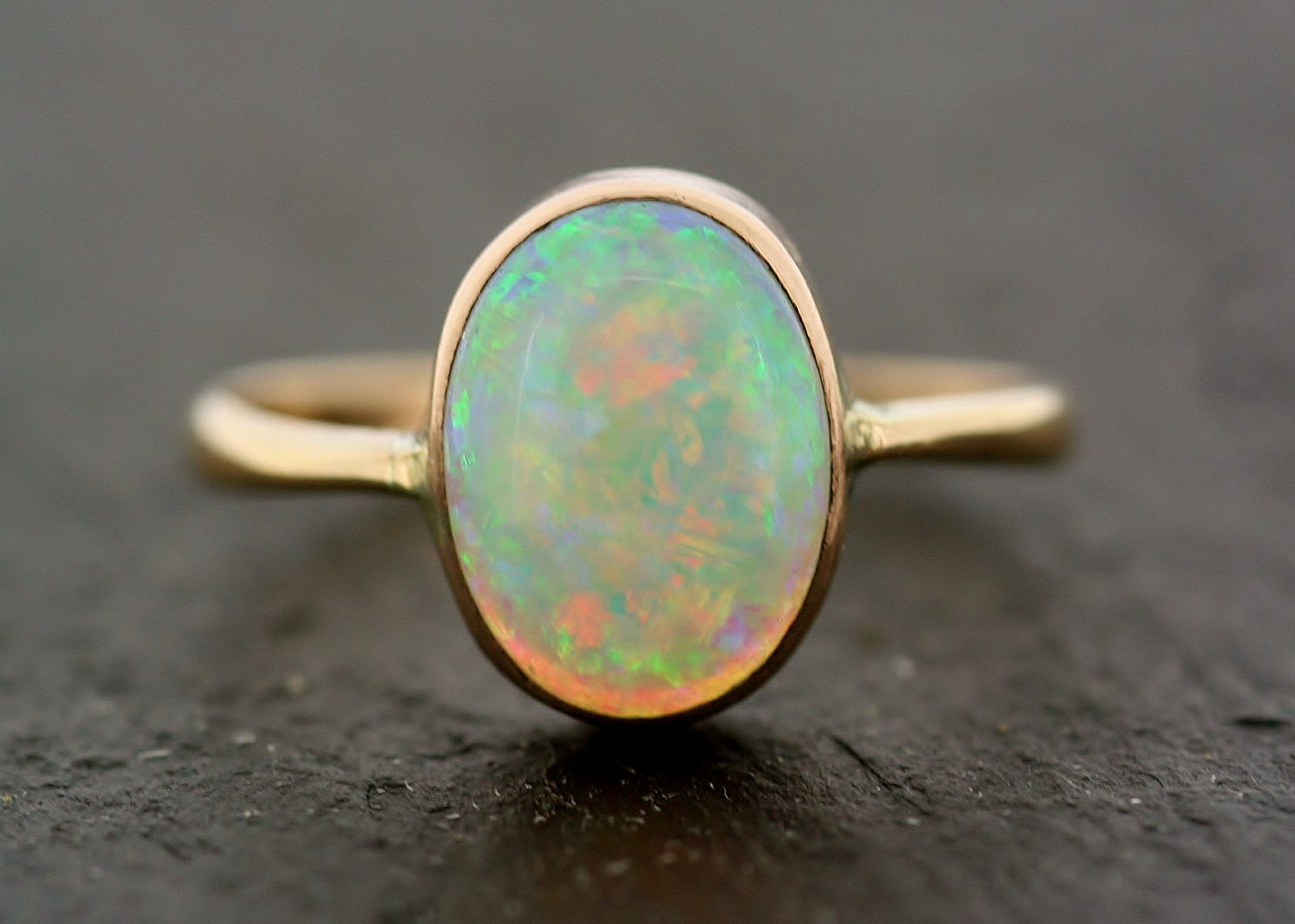 antique opal ring vintage opal 9ct gold ring