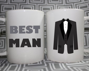 Groomsmen or Bestman Gift Mug -  - Made to Order with Free Gift Box