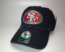 Swarovski crystal bling San Francisco 49ers adjustable hat