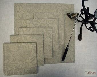 CLEARANCE / Tan Linen Napkins Laura