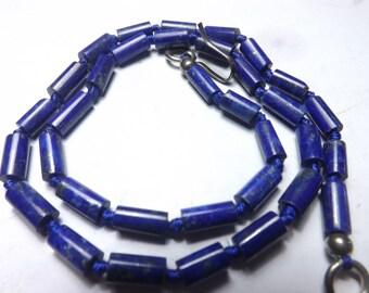 Lapiz Lazuli Tubes  16 Inch 10mm Approx(Afghanistan)