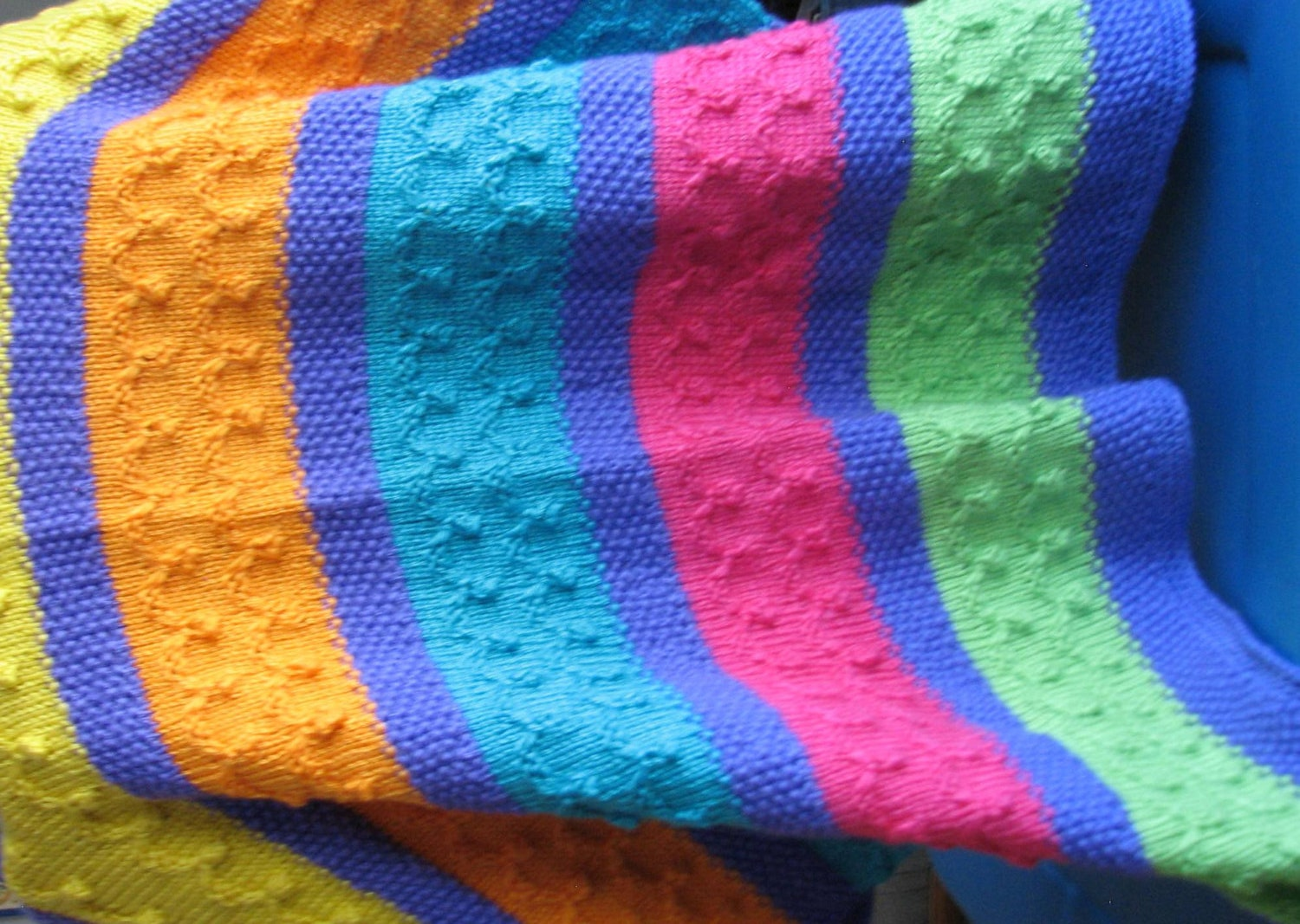 B-022 Multi Colored Knitted Afghan