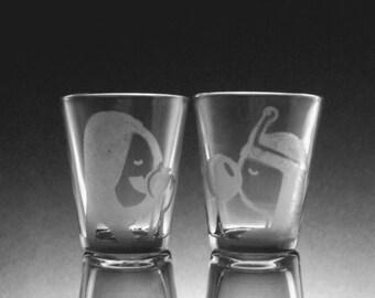 Marceline and Princess Bubblegum Shot Glass Pair