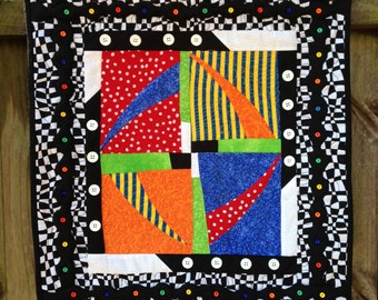 Checkered, Contemporary, Funky Wall Hanging