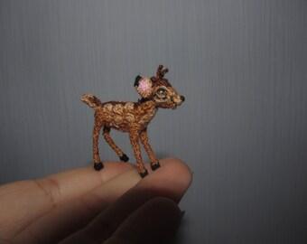 Miniature Bambi Doll house toys crochet miniatures amigurumi Disney collectibles Disney crochet