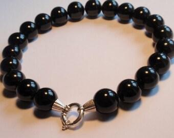 Black Onyx Necklace, Jumbo  (JK 640)