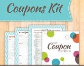 Coupon Binder Starter Kit, Instant Download