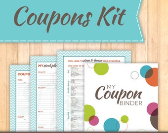 Coupon Binder Starter Kit, Instant Download