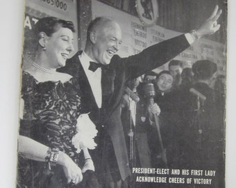 LIFE November 17,1952  Magazine-President Elect Eisenhower and First Lady-Collectible Book