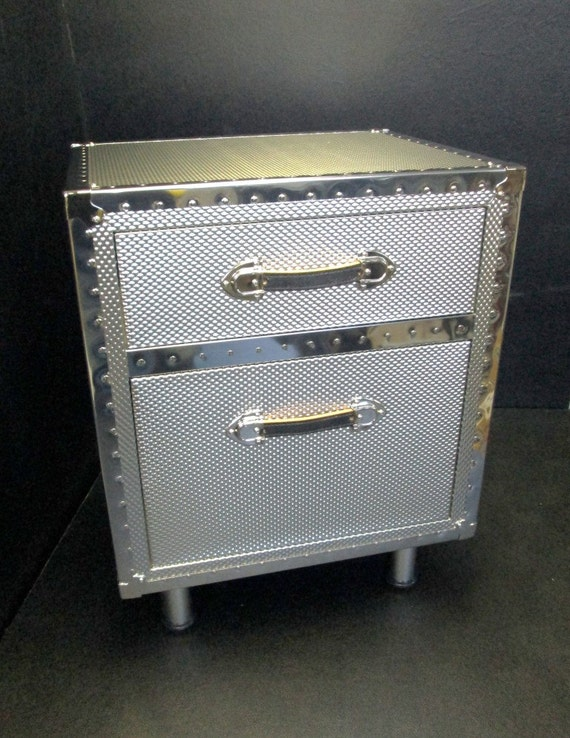 embossed metal nightstand nightstand embossed metal covered by hqtrunk on etsy 983