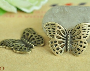 15pcs Antique Bronze Butterfly Charms 18x25mm MM860