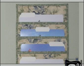 PDF Pattern for File Folder Pocket Organizer, File Pocket Wall Hanging, Pocket Organizer Pattern - Sewing Pattern,Tutorial, DIY