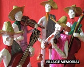 Musicians Skeletons music band - Day of the Dead Skeleton Band - Dia de los muertos skeletons musicians - Set of 5