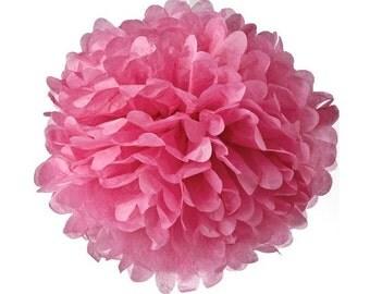 Decorazione-Pom pom di carta fucsia/Hot Pink pom pom paper decoration