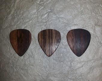 exotic hardwood picks-combo pack