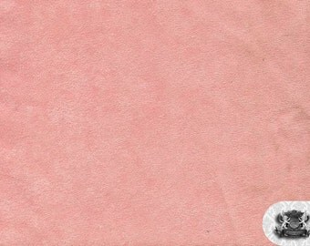 "Micro PASSION SUEDE Pink 61 Fabric / 58"" Wide / Sold By the Yard"