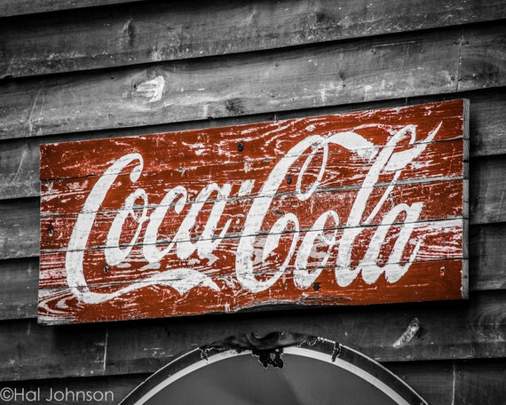 Items similar to old coke 8 x 10 coca cola art for Coca cola wall mural
