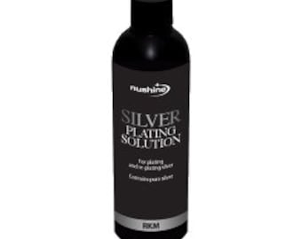 Nushine Silver Plating Solution 50ml - permanently plate PURE SILVER on worn silver, Brass, Copper & Bronze, ecofriendly formulation