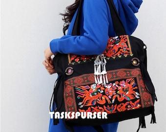 Canvas tote bag/Canvas Bag/Stitch Bag/Shoulder Bag/iPad bag/Embroidery bag/Fashion bags/Female bag/Handmade embroidery bag
