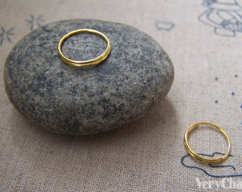150 pcs of Gold Tone Split Rings 12mm A2183