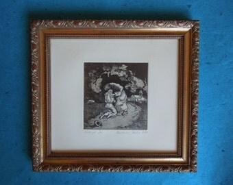 Vintage art, Prodigal Son, Rembrandt