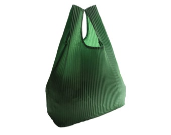 Green Reusable Market Bag - Grocery Bag with Recycled Hot Air Balloon