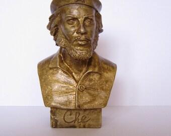 Bronze Bust Che Figure Sculpture