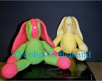 Crochet Rattle Ear Rabbit Toys