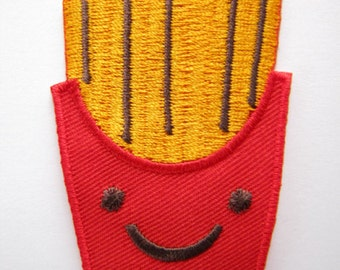 1 Dollar Shipping - ORIGINAL Kawaii / Cute French Fries Iron On Patch / Applique
