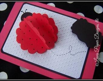 Ladybug Birthday card/ Ladybug card