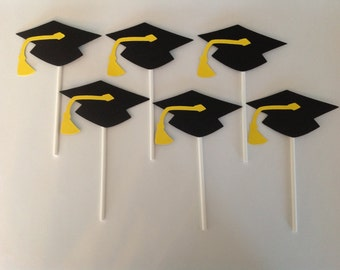 Graduation Cupcake Toppers, set of 12