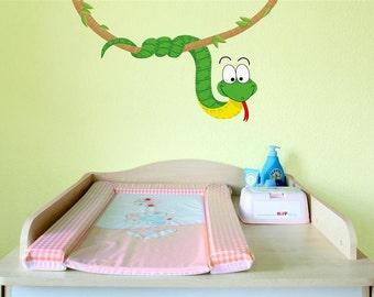 Wall decal snake jungle nursery
