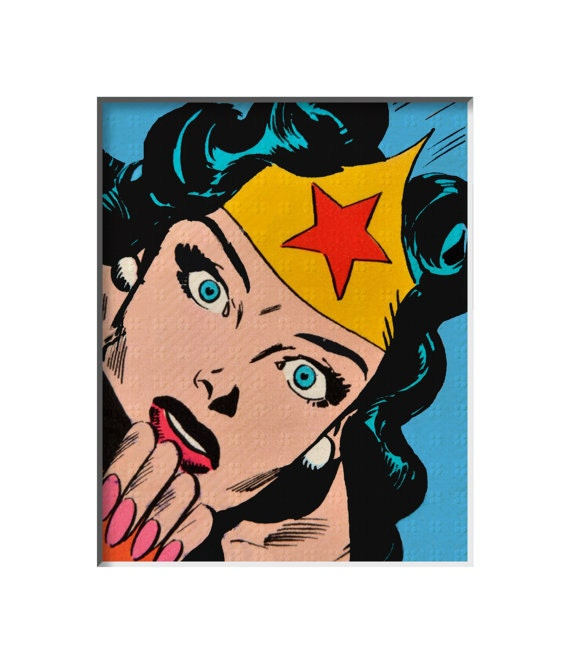 Items Similar To Wonder Woman Comic Superhero - Vintage ...