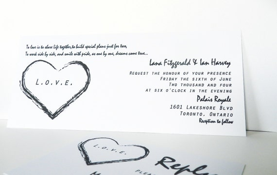 Printable - Black & White invitation set