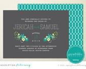 Blooms Wedding Invite - Printable