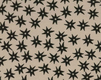 Inkwell - Rustic Star Fabric - Inkwell Inky Stars Charcoal/Taupe by Meg Hawkey of Crabapple Hill for Lecien 30524-11  - 1/2 yard