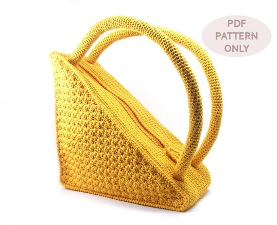 PDF Crochet PATTERN - Crochet Bag Pattern Round Handles Crochet ...